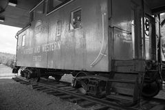 N & W Caboose, Saltville, Virginia, USA Royalty Free Stock Photos