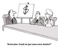 Één Word Businessplan Stock Afbeelding