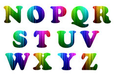N-Z colorful computer alphabet. On white background Vector Illustration