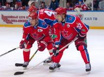 n Zaytsev (22) und I Grigorenko (27) Lizenzfreie Stockbilder
