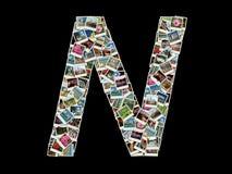 N-Zeichen - Collage der Reisenfotos Lizenzfreie Stockfotos