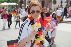 Nação do futebol de Alemanha fotos de stock