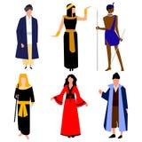 Nações diferentes da roupa nacional Vetor ilustração stock