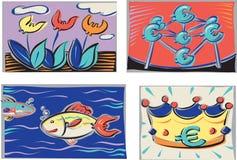Nações do Euro ilustração stock