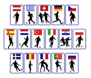 Nações do futebol Imagem de Stock Royalty Free