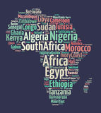 Nações em África ilustração do vetor