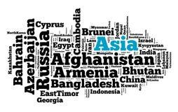 Nações em Ásia ilustração stock