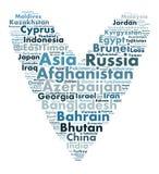 Nações em Ásia ilustração do vetor