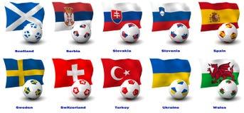 Nações européias do futebol ilustração royalty free