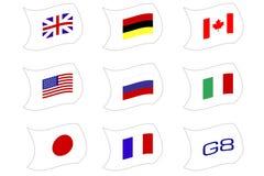 Nações G8 ilustração do vetor