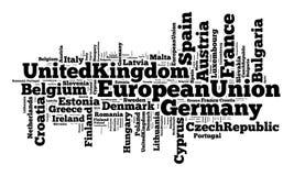 Nações na União Europeia ilustração royalty free