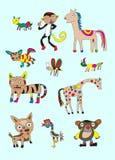 Naïeve dierlijke reeks Royalty-vrije Stock Afbeeldingen