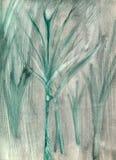 Naïeve groene & grijze bosachtergrond Royalty-vrije Stock Afbeeldingen