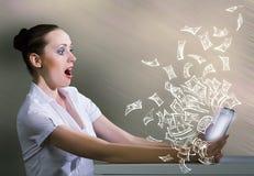 nałóg rysujący ręki ilustracyjny internetów wektoru biel Obrazy Stock