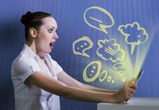 nałóg rysujący ręki ilustracyjny internetów wektoru biel Zdjęcia Royalty Free