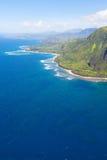 Na在考艾岛的pali海岸 库存照片