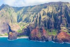 Na在考艾岛的pali海岸 库存图片