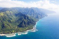 Na在考艾岛的pali海岸 免版税库存图片