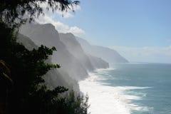 Na梵语海岸视图,考艾岛 免版税库存图片