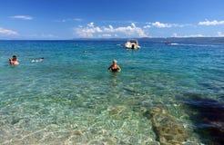 Na água azul desobstruída Imagem de Stock Royalty Free
