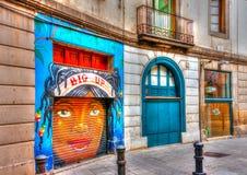 Na área de Barceloneta fotografia de stock royalty free