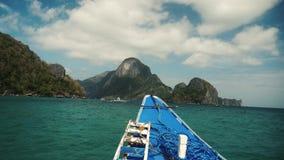 Na łódkowatej wycieczce w Philippines z pięknym widokiem