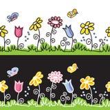 Na łące lato motyle kwiaty i Fotografia Stock