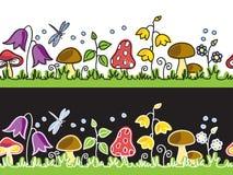 Na łące lato pieczarki kwiaty i Obrazy Stock