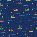 na łodzi ilustracja wektor