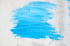 Na ścianie błękitny farba Obrazy Stock