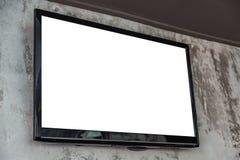 NA ścianie TV ekran fotografia stock