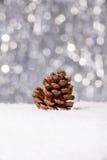 Na śniegu bożenarodzeniowa dekoracja Zdjęcie Stock
