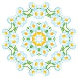 Na abstrakcjonistycznej kwiecistej deseniowej kurendzie , Obrazy Royalty Free