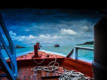Na altura da tempestade sobre o mar Imagem de Stock Royalty Free