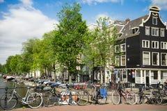 Na Amsterdam ulicach Obrazy Royalty Free