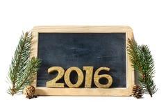 2016 na ardósia Imagens de Stock