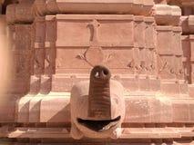 Na arquitetura bonita do templo de Shree Mahavir Jee Jain do tronco do elefante fotografia de stock royalty free