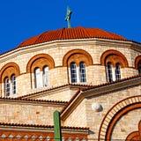 na arquitetura velha de Atenas cyclades greece e na vila grega t Imagens de Stock