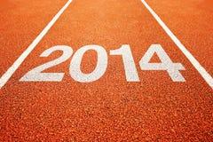 2014 na atletyka wszystko - pogodowy bieg ślad Obrazy Stock
