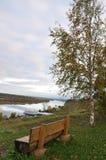 Na bankach Kolva rzeka Obrazy Royalty Free