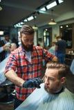 Na barbearia Foto de Stock