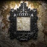 Na betonowej ścianie retro rama Zdjęcie Royalty Free