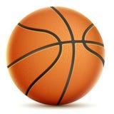 Na Białej Pomarańczowej koszykówce. Obrazy Royalty Free