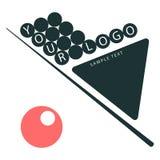 Na białej tło wskazówce, trójbok, ostrosłup piłki abstrakcjonistyczny tła czerń firmy elementu logo royalty ilustracja