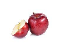 Na biały tle świeży czerwony jabłko Fotografia Stock