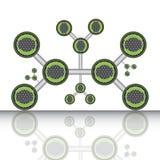 Na biały tle atom część. Zdjęcia Stock