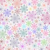 Na biały tle kolorowy kwiat. Obrazy Royalty Free