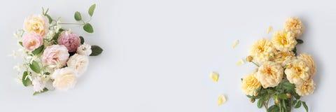 Na biały tle kwiatu piękny bukiet obrazy stock