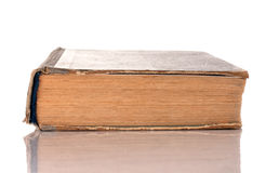 Na biały tle stara książka Zdjęcie Stock