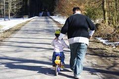 Na bicicleta Imagens de Stock